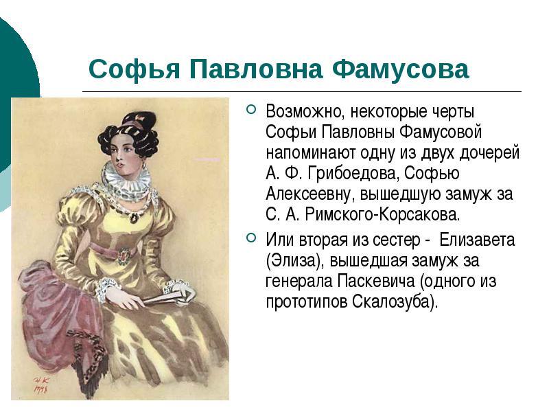 Софья Фамусова