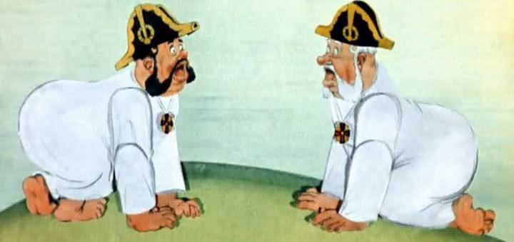 повесть о том, как мужик двух генералов прокормил - краткое содержание
